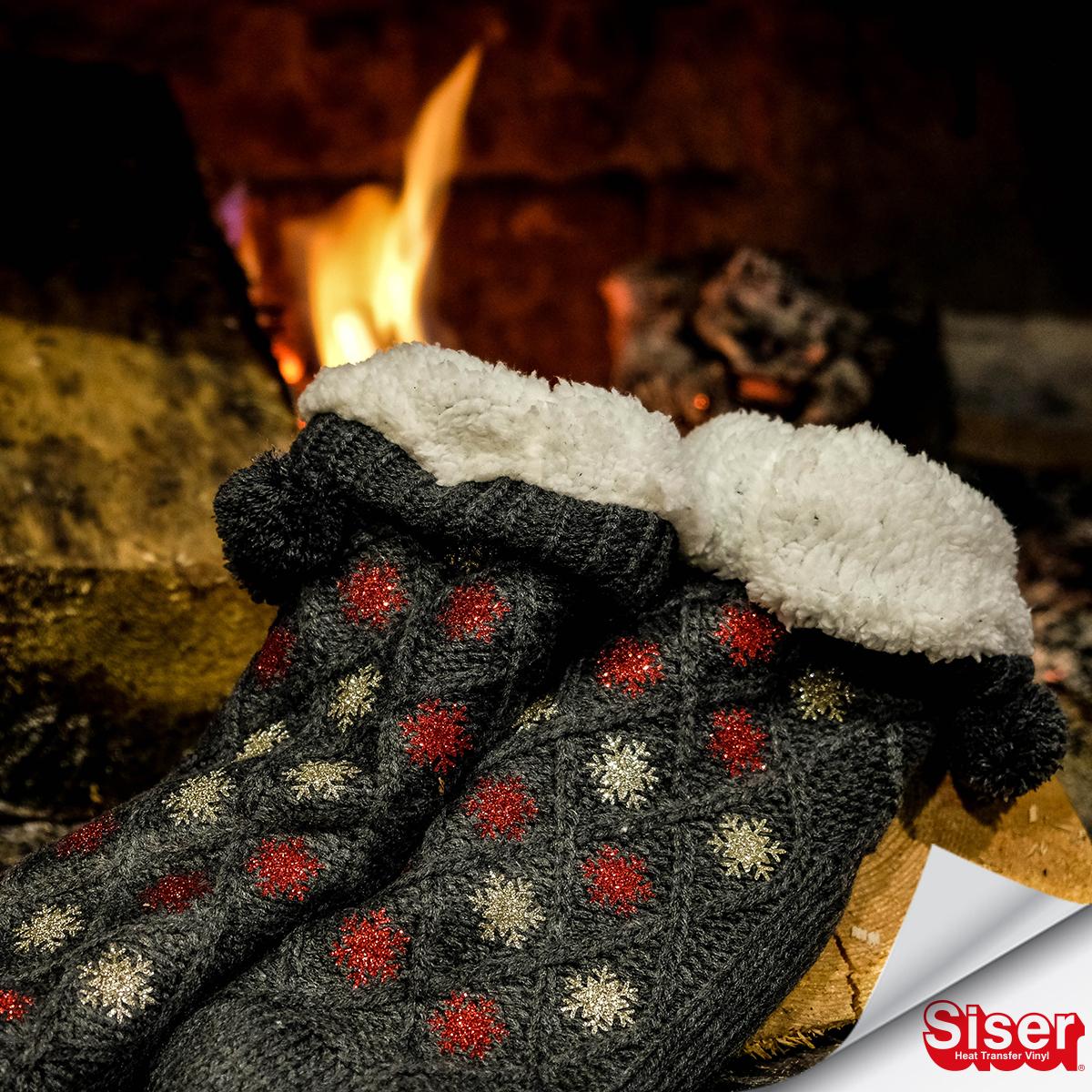 Ciorapi personalizati cu stelute/fulgi din Glitter