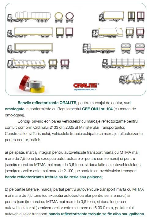 Cum trebuie sa aplicam benzile reflectorizante pentru marcajul de contur al camioanelor.