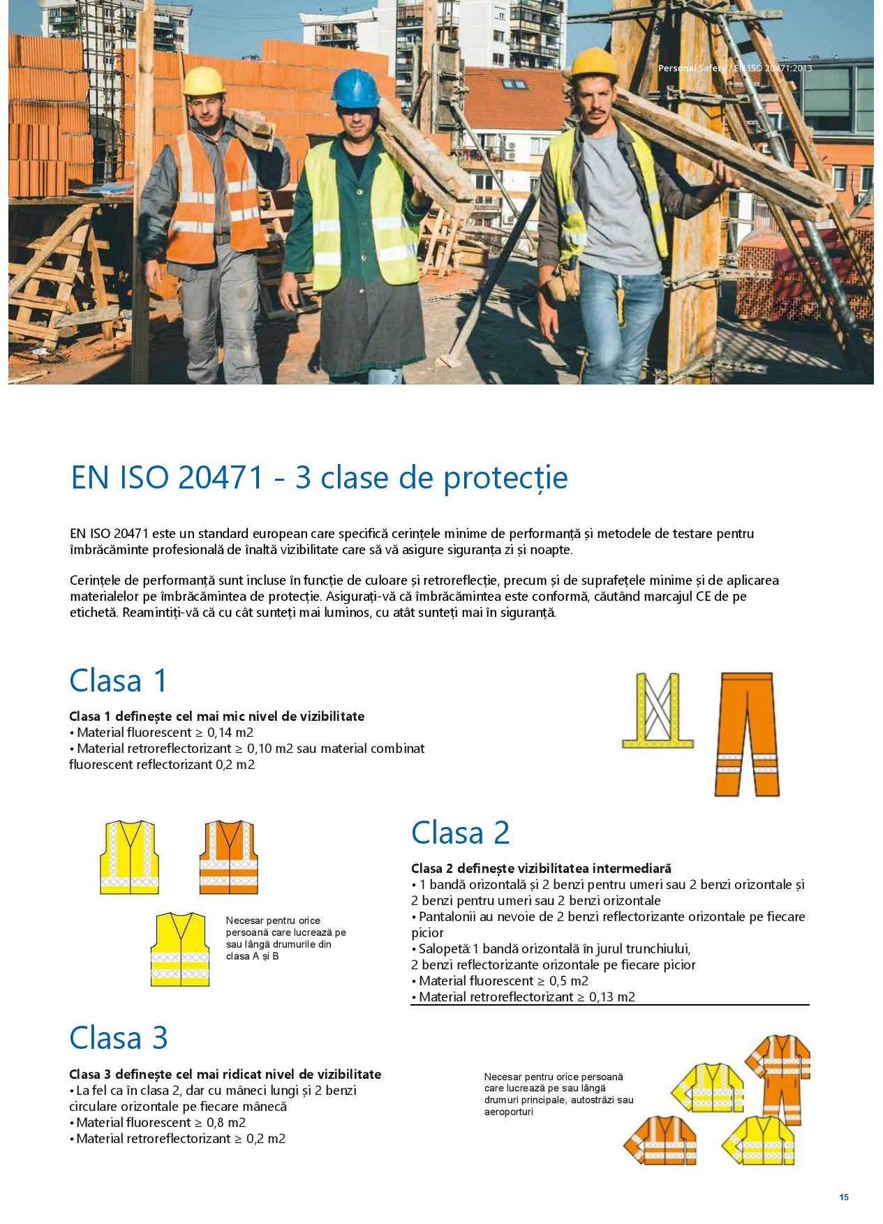 Clasele de protectie pentru echipamentele de lucru si protectie